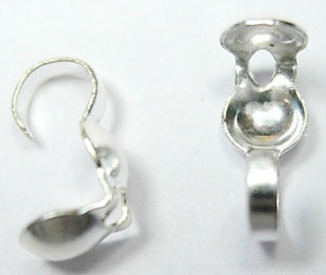 Silver Colour Callottes with Open Loop 50 pack