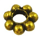 GLNF38 Antique Gold Lead and Nickel Free Daisy Spacer 100 pack