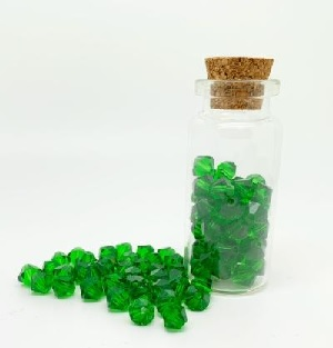 100 Pack 4mm Chinese Bicones Green 10