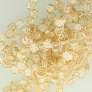 Honeycomb Beads 30 pack Crystal Beige Lustre 00030 14413