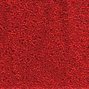 10 grams Size 15 Miyuki Seed Beads Opaque Red 9408