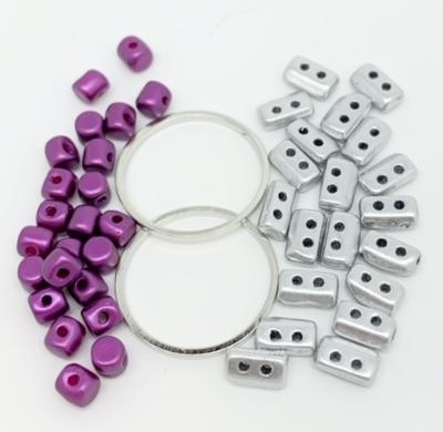 Fleur Component Pack Purple and Silver