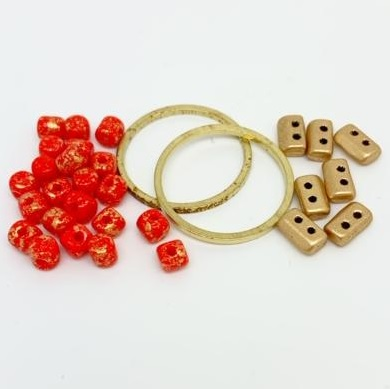 Fleur Component Pack Red and Gold
