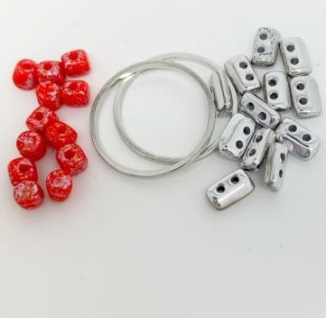 Fleur Component Pack Red and Silver