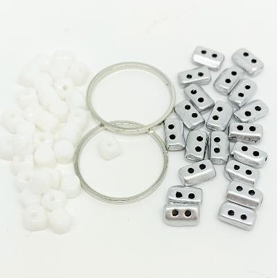 Fleur Component Pack White and Silver