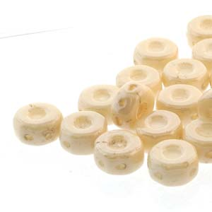 30 pack Czech glass Octo Beads Chalk Beige Lustre 03000 14413