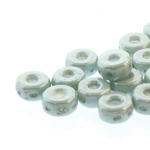 30 pack Czech glass Octo Beads Chalk Green Lustre 03000 14458