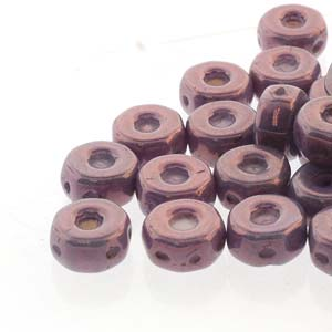 30 pack Czech glass Octo Beads Chalk Purple Vega 03000 15726