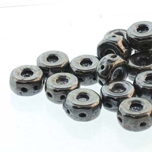 30 pack Czech glass Octo Beads Jet Hematite 23980 14400