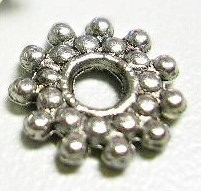 SNF140 Antique Silver Nickel Free Snowflake Spacer 50 pack