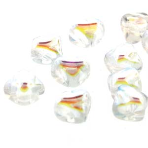 40 pack 2 hole Silky Beads Crystal Full AB 00030 28703