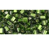 10 grams TOHO 3 mm Cubes Silver Lined Olivine TC-03-37