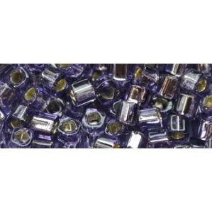 10 grams TOHO 3 mm Cubes Silver Lined Tanzanite TC-03-39