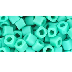 10 grams TOHO 4 mm Cubes Opaque Frosted Turquoise TC-04-55F
