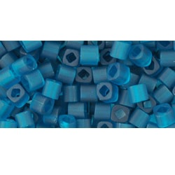 10 grams TOHO 3 mm Cubes Trans Frosted Teal TC-03-7BDF