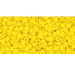 10g TOHO size 11 Opaque Frosted Sunshine TR-11-42BF