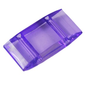 2 Hole Acrylic Spacer or Carrier Beads 25 pack violet