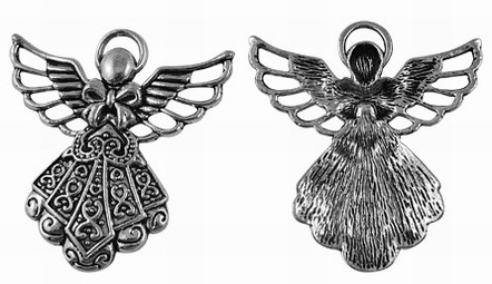 42mm Antique Silver Angel Lead and Nickel Free