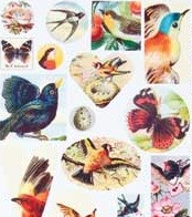 Patera Collage Sheet Birds and Butterflies