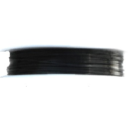1.0mm 18 Gauge copper wire in black colour. Price per 2.5 metres