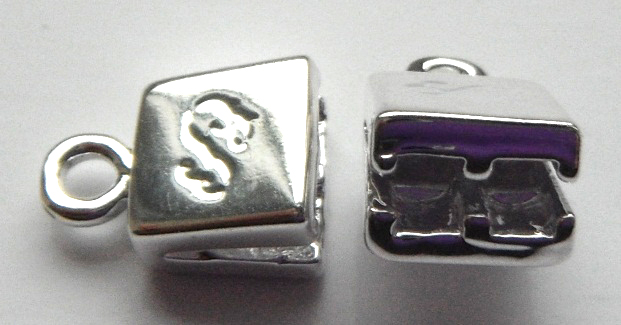 Double Strand silver plated brass end caps.Sold per pair
