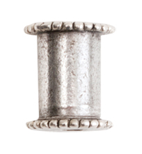 10mm .999 Antique Silver Plated Patera Channel Bead