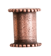 10mm Copper Plated Patera Channel Bead