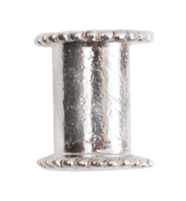 10mm .999 Sterling Silver Plated Patera Channel Bead