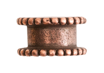 4mm Copper Plated Patera Channel Bead