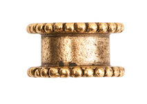 4mm 24K Gold Plated Patera Channel Bead