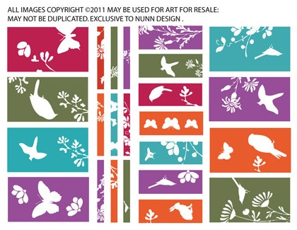 Collage Sheet Silhouettes sized to fit Channel Beads