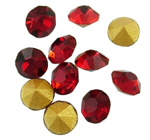 10 pack 5mm Red Chinese crystal Chatons