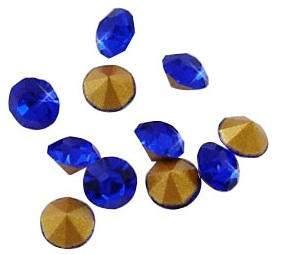 10 pack 5mm Sapphire crystal Chatons