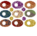 Patera Collage Sheet Floral Ovals