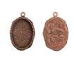 15x18mm Copper Plated Patera Ornate Single Oval Bezel 2 pack