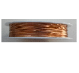 1.0mm 18 Gauge copper wire in copper colour. Price per 2.5 metre