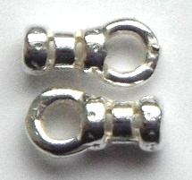 1.4mm silver plated pewter crimp ends.Sold per pair
