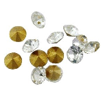 10 pack 5mm Clear Chinese crystal Chatons