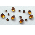 5 grams Amber Chinese crystal Chatons 2,3,4 mm