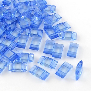 2 Hole Acrylic Spacer or Carrier Beads 25 pack dark blue