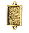 10x14mm 24K Gold Plated Patera Double Rectangle Bezel 2 pack
