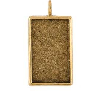 18x31mm 24K Gold Plated Patera Single Loop Rectangle Bezel
