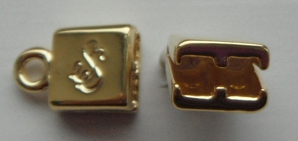 Double Strand gold plated pewter end caps.Sold per pair