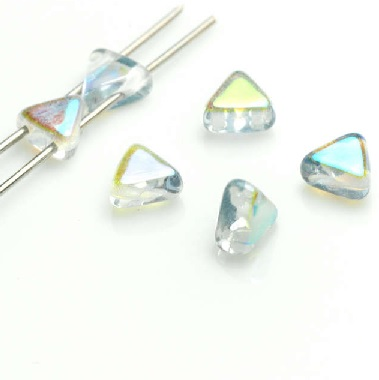 10 grams Kheops 2 hole beads Crystal Blue Rainbow 00030 98538