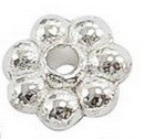 SLNF66 Lead and Nickel Free Silver Colour Daisy Spacer 100 pack