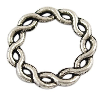 Open Twisting Circle A Silver 21mm Lead Free Ring