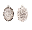 15x18mm .999 A Silver Plated Patera Ornate Single Oval 2 pack