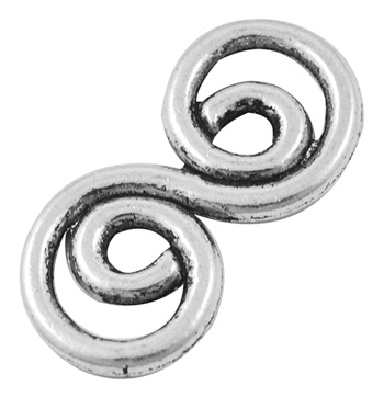 Swirl 1 Antique Silver Colour Lead and Nickel Free