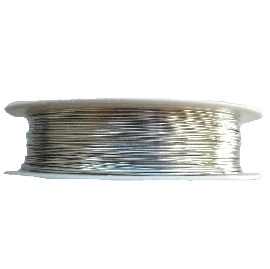 1.0mm 18 Gauge copper wire in silver colour. Price per 2.5 metre