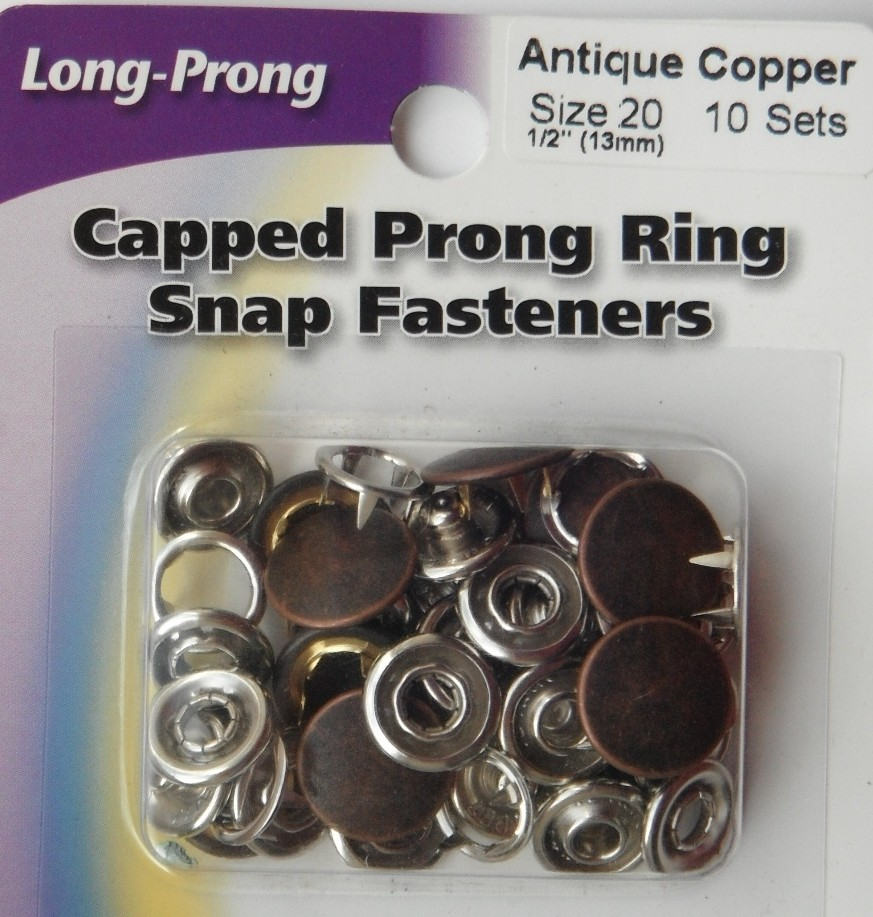 13mm snap fasteners. 10 Sets          Antique Copper